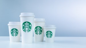 Starbucks cup size